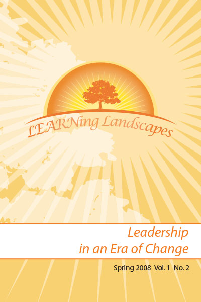 Settings Vol 1 No 2 (2008): Leadership in an Era of Change