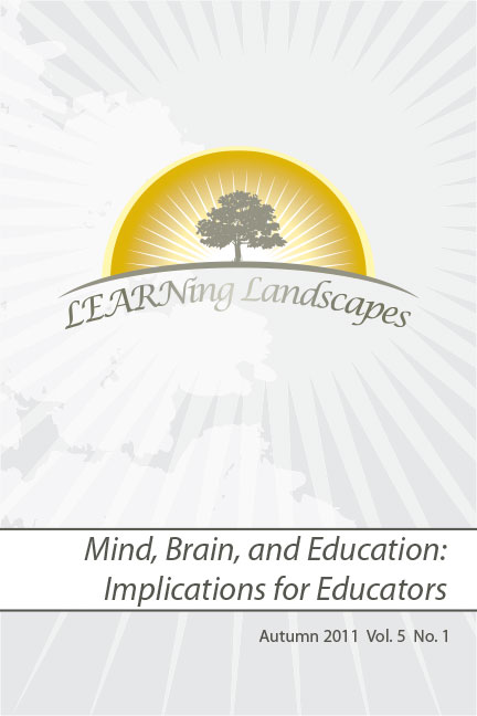 Settings Vol 5 No 1 (2011): Mind, Brain and Education: Implications for Educators