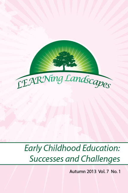 Vol 7 No 1 (2013): Early Childhood Education: Successes and Challenges