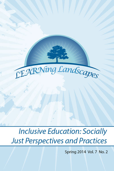 Vol 7 No 2 (2014): Inclusive Education: Socially Just Perspectives and Practices