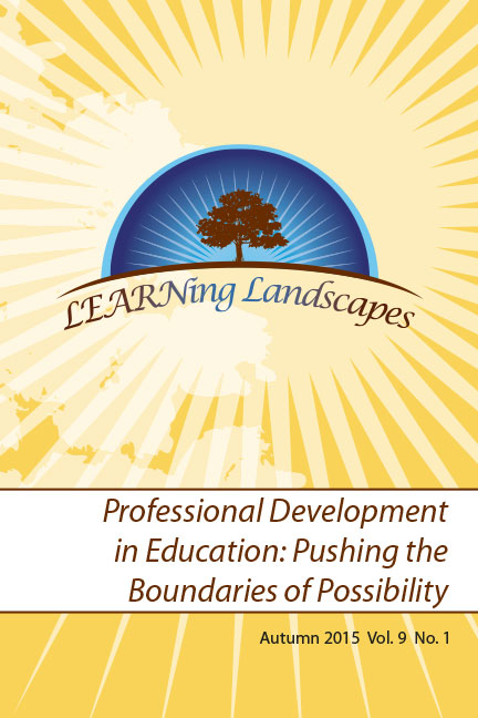 Settings Vol 9 No 1 (2015): Professional Development in Education: Pushing the Boundaries of Possibilities