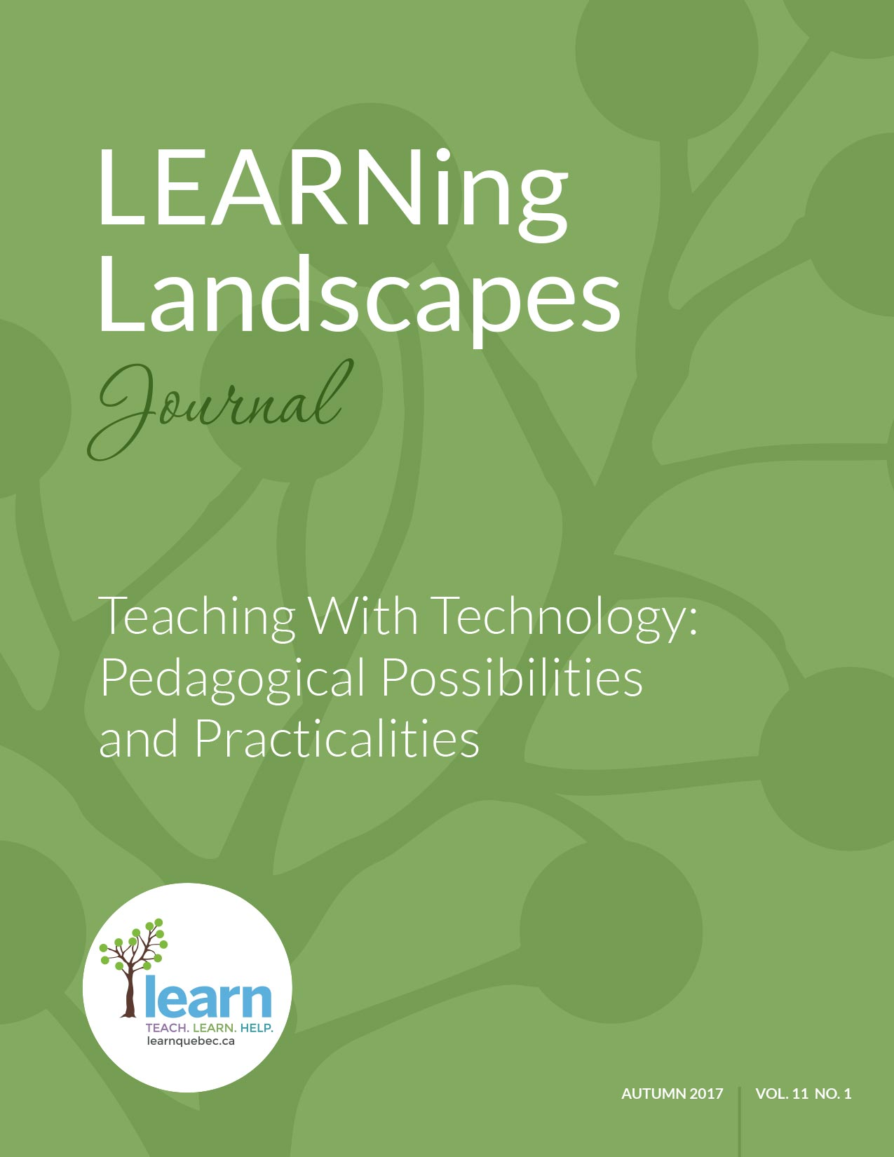 Vol.11 No.1 Teaching With Technology:  Pedagogical Possibilities and Practicalities